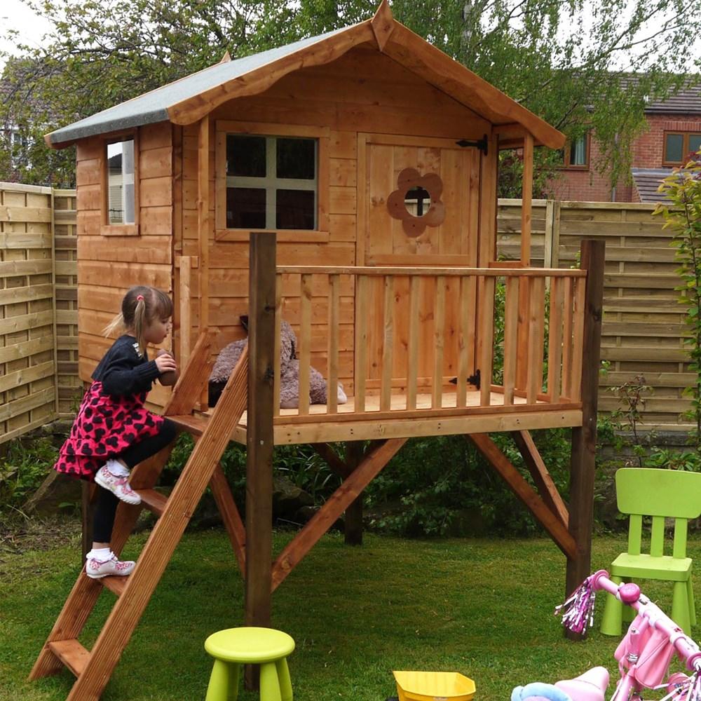 Medinių namelių vaikams įvairovė